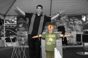Magician Jeff Evans at the Meeker Days Festival in Puyallup