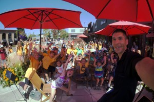 Edmonds families overflowed the cozy Hazel Miller Plaza for an afternoon of amazement and laughter