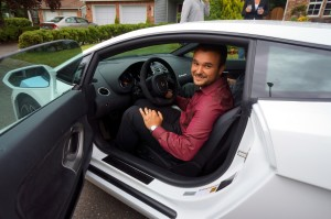 """Client of the Year"" Alex in his [rented] Lamborghini"