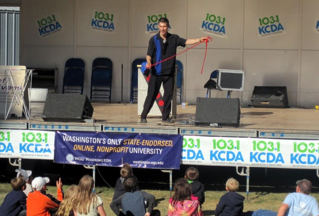 Spokane International Fair magician Jeff Evans