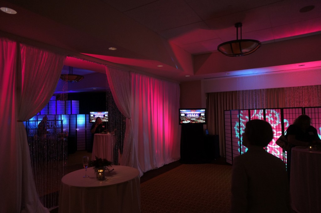 Each meeting space was beautifully decorated by different event production companies