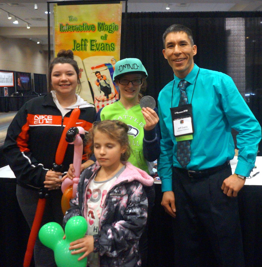 Magician Jeff Evans at the Oregon Fairs Association covention