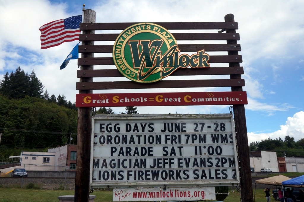 Have you heard?  I'm big-time in Winlock :-)