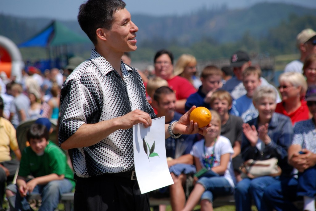 Fair and festival magician Jeff Evans is a hit with kids and adults alike
