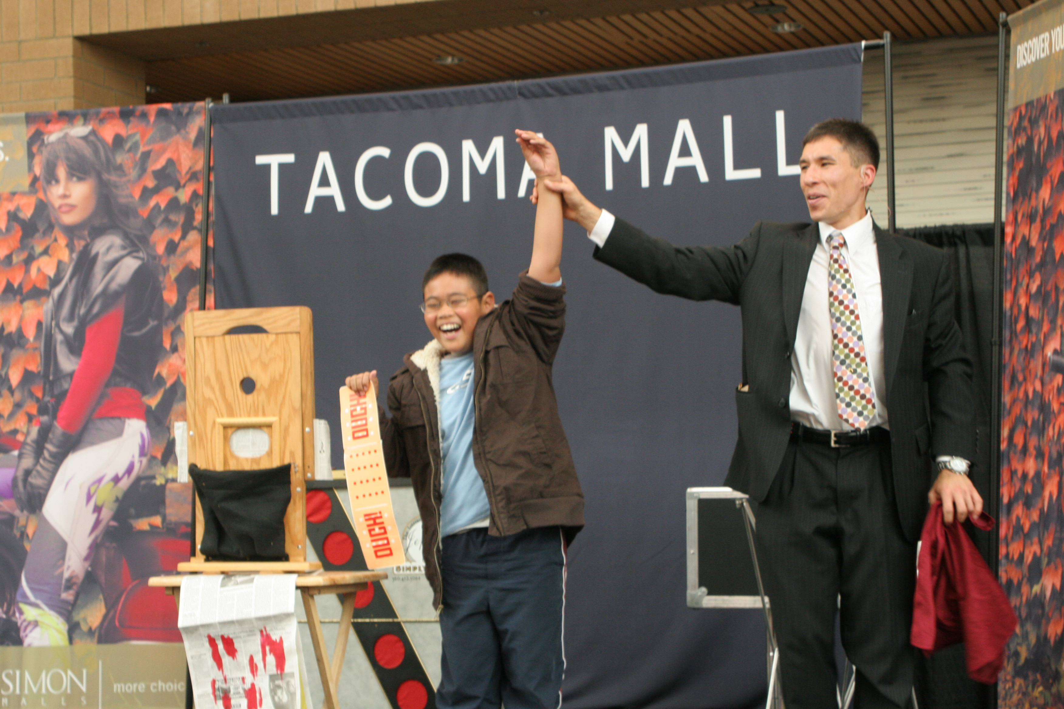 Magician Jeff Evans performs for a special event at the Tacoma Mall