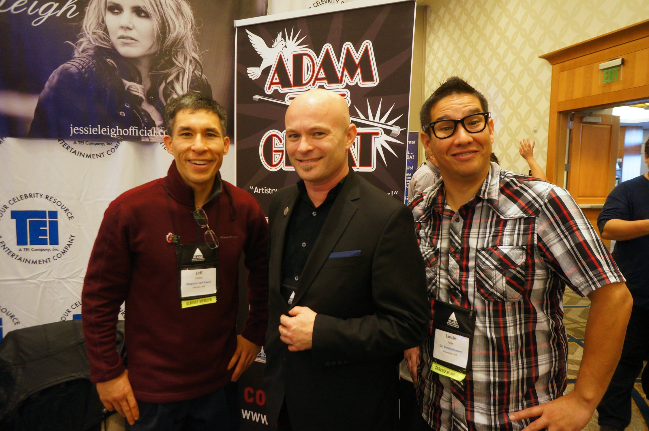 Magicians Jeff Evans, Adam the Great, and Louie Foxx
