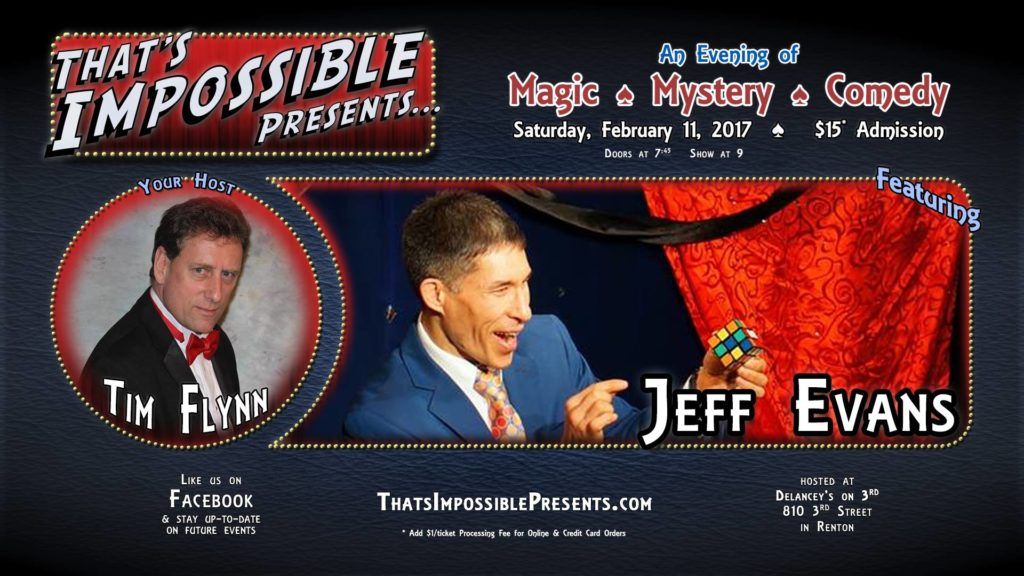 "Renton magician Jeff Evans headlines ""That's Impossible Presents"""