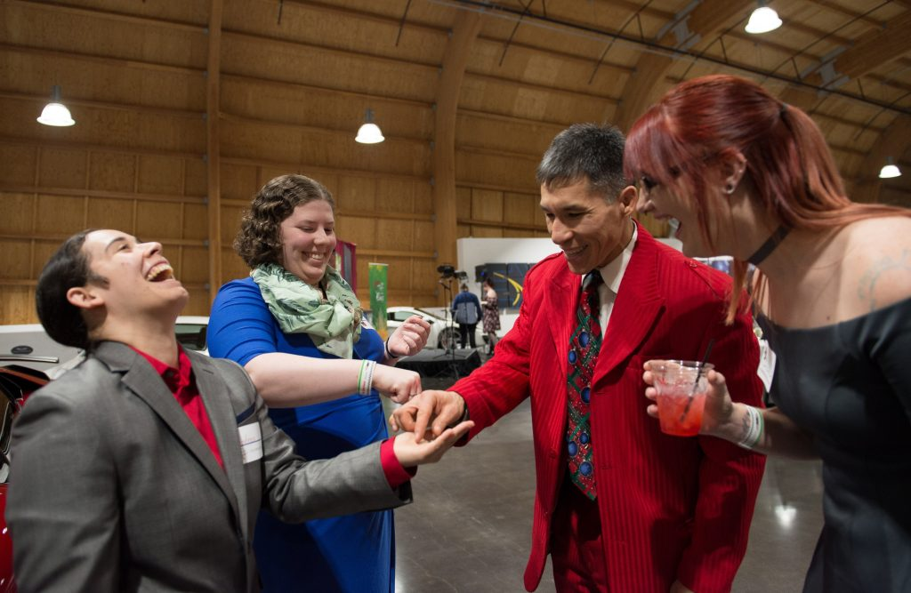 Mingling magic with Jeff Evans at the LeMay-America's Car Museum in Tacoma. Photo by A. S. Photography.