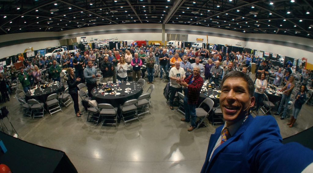 Tacoma corporate magician Jeff Evans performs at the Greater Tacoma Convention & Trade Center