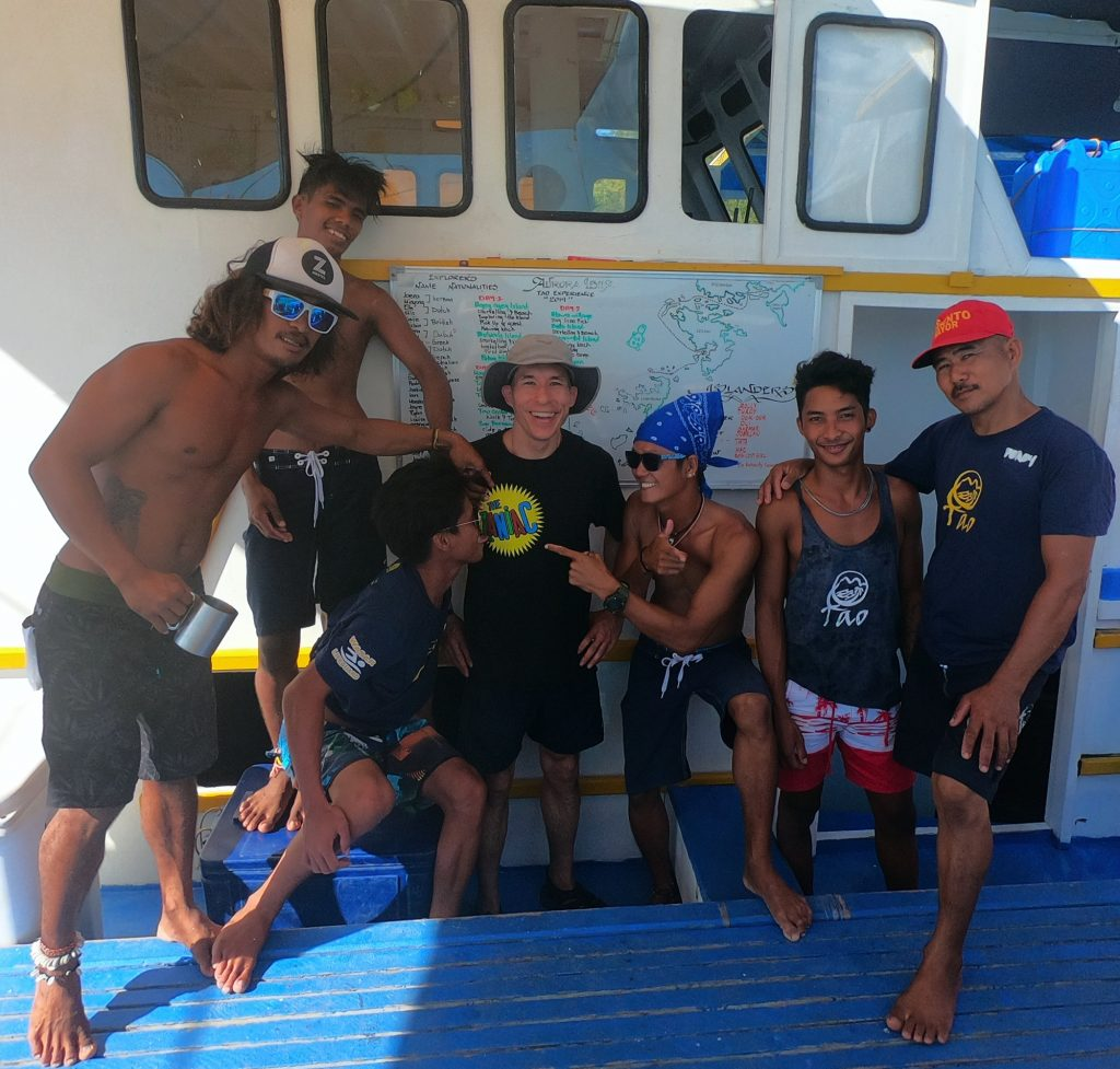 The crew of the Tao Philippines island-hopping tour were big magic fans