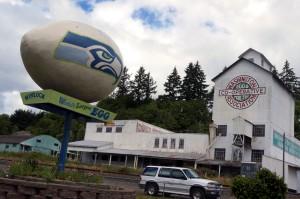 "The ""World's Largest Egg"" in Winlock, Washington has a distinctly ""hawkish"" appearance"