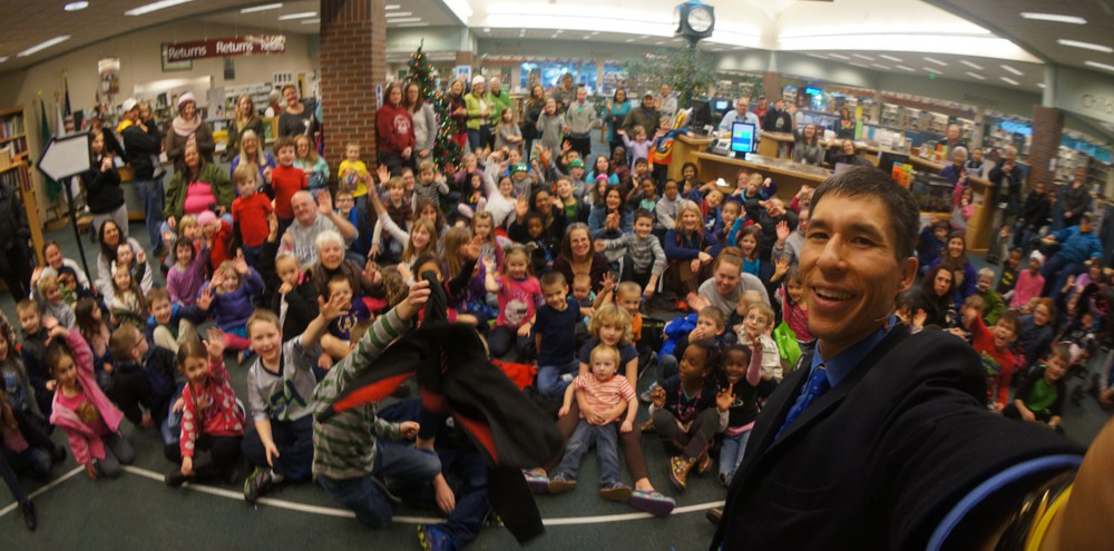 Standing room only crowd at the Tumwater Timberland Library