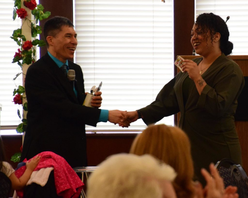 Federal Way magician Jeff Evans performs at the Twin Lakes Golf and Country Club